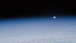 Ahogy a Hold az ISS-ről látszik