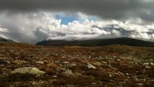 A Rondane-hegység havas csúcsai