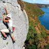 Rovinj, Limska Chanal: tengerparti sziklák
