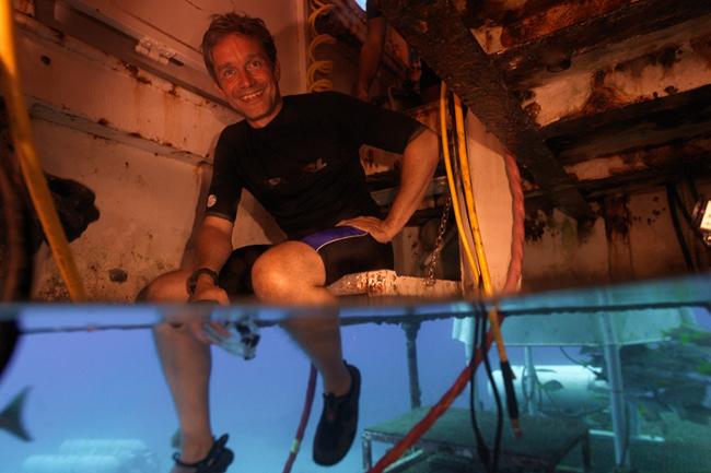 A mindössze 36 m2 alapterületű Aquarius fedélzetén Fabien Cousteau és munkatársai összesen 31 napot fognak eltölteni.