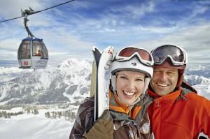 Skifahrer mit Gartnerkofel